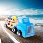 Оригинал Бева 5 В 1 Грузовик Модель Игрушка Окружающей Среды Деревянный Авто Грузовой Автомобиль Малыш Развивающие Игрушки