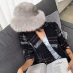 Оригинал Женская теплая густая искусственная лиса меховой моды Винтаж Шапка