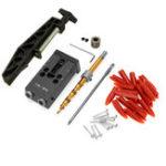 Оригинал XK-R2 Деревообрабатывающее устройство для установки карманных отверстий Угол 9,5 мм Дрель Направляющая с фиксированным шарниром Зажим
