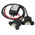 Оригинал Двойной Двойной 12V К 5V 3A 15W USB Выходной адаптер питания для Arduino
