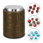 Оригинал 7 шт. Многогранные кубики с кубками для ролевых игр с кубиками для игры в набор RPG MTG настольные игры кубики