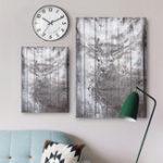 Оригинал 45×30/60×40/60x90CM Gray Deer Waterproof Canvas Pictures Wall Art Paintings Home Decor