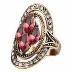 Оригинал Bohemian Red Gemstone Crystal Finger Rings for Women