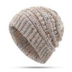 Оригинал Зимний женский вязаный хвостик Шапка с шарфом Костюм Лыжная шапочка