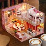 Оригинал Cuteroom L026 Dream Angle DIY Кукла Дом С Мебелью Легкий Подарок Дом Игрушка 24.5 см