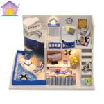 Оригинал Hoomeda M040 DIY Кукла Дом Коробка Звук моря Миниатюрная мебель Детская коллекция подарков 18см