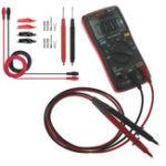 Оригинал ANENGAN8002RedDigitalTrueRMS 6000 Считает Мультиметр AC / DC Ток Напряжение Частота Сопротивление Температура Тестер ℃ / ℉ + Набор измерител