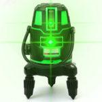 Оригинал 360 ° 5 Линия 6 очков Зеленый свет Лазер Уровень Поворотный Лазер Линия На открытом воздухе Крест Самостоятельный уровень 3D