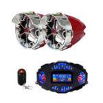 Оригинал 2.1A Многофункциональный мотоцикл Blue Tooth Music Audio Speaker с LCD Экран Player Часы