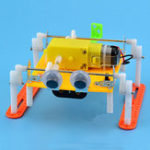 Оригинал DIY Ходячий Робот Игрушка STEAM Обучающие Набор Подарок Для Детей Малыш