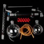 Оригинал 1000mL 24/40 Distillation Glass Apparatus Vacuum Distill Kit Vigreux Column Laboratory Glassware Kit