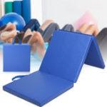 Оригинал 70×23×2дюймовыйковрик для гимнастики с 3 складками Yoga Тренажерный зал Переносная панель для аэротрека Кувыркаясь Восхожден