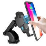 Оригинал BakeeyType-C10WАвтоматическаяДатчикQi Беспроводная Авто зарядное устройство для Samsung для iPhone Xiaomi