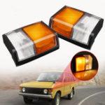 Оригинал Индикаторы поворота переднего левого / правого угла Лампа Квадратный штекер для Range Rover 1971-1986