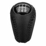 Оригинал 5-ступенчатая черная искусственная кожа Авто ручка переключения передач ручка переключения передач для Mazda 3 5 6 серии