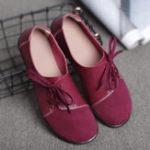 Оригинал PlusразмерЖенскоеКожаныебалеткина шнуровке Soft Повседневная обувь