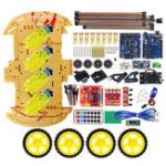 Оригинал МодернизированныймногофункциональныйBluetoothУправляемый4WDUNO R3 Стартер DIY Шасси Авто Набор для Arduino