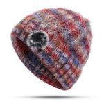 Оригинал Средневековая плюшевая вязка Шапка Двухслойная теплая шапка-шапочка