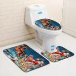 Оригинал МоющиесяВаннаякомнатачехлынасиденья унитаза Ванная комната Carpet Анти Slip Ванная комната Коврик для ванной Набор ковриков для ванной