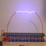 Оригинал Генератор Маркса 6 уровня Прохладный Искусственная молния Высоковольтная дуга Студент Эксперимент DIY Устройство