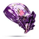 Оригинал Женское Атласный этнический цветочный тюрбан Шапка Chemo Caps