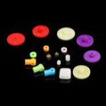 Оригинал 18 шт. 0.4 Модуль Colorful Пластиковые Механизмы Передачи Модель Шкива Стойки Ремень Червячный Стержень Набор