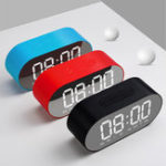 Оригинал 3 Вт 4 Ом Сигнал Часы FM Радио Беспроводной Bluetooth Динамик Aux TF USB Music Mirror Дисплей