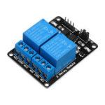 Оригинал 10 шт. 2-канальный релейный модуль 12 В с реле защиты оптической муфты расширенная плата для Arduino