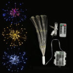 Оригинал Dual Powered USB Батарея 150 LED Звездный взрыв String Fairy Light Sliver Провод Свадебное Партия Home Decor