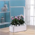 Оригинал Автоматический полив растений Сад Творческий цветочный горшок без почвы LED Выращивание искусственного солнечного света Зеленое растение