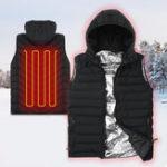 Оригинал НаоткрытомвоздухеСпортивныйжилетбез рукавов, унисекс, 3 режима, теплый жилет, ветрозащитная куртка на молнии, майки