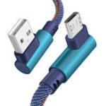 Оригинал Bakeey 2,4A 90 ° Колено Type C Джинсовый кабель для передачи данных Зарядка Провод для Samsung Note 9 9s Xiaomi Mi8 HUAWEI P20