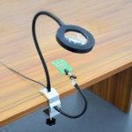 Оригинал USB 3X Пайка лупа увеличительное стекло рабочий свет Пайка железный держатель скамейка тиски стол Зажим с 2шт гибкие руки