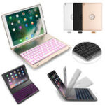 Оригинал 7 Colors Backlit Aluminum Alloy Wireless Bluetooth Keyboard Case For iPad Air/iPad Air 2