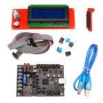 Оригинал Материнская плата Einsy Rambo 1.1a + 2004 LCD Дисплей Для Prusa i3 MK3 с 4-мя управляющими устройствами Trinamic TMC2130 4 Переключаемые выходы Mosfet Часть для 3D-принт