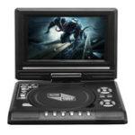 Оригинал 7,8 дюймов Портативная телепрограмма Игра на 270 градусов Вращение Авто DVD-плеер