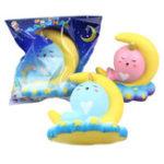 Оригинал Sanqi Elan 16CM Животное болотистый Unicorn Moonlight Кит Медленный отскок с упаковкой Подарочная коллекция