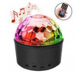 Оригинал Беспроводная Bluetooth Night Light Дистанционное Управление Динамик LED Мини-гарнитура Handsfree Mini Ball для DJ Party Disco