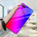 Оригинал BakeeyГрадиентЦветзакаленноестеклоПротивоударный Защитный Чехол Для Xiaomi Mi 8 Lite