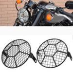 """Оригинал 5.75 """" мотоцикл LED Фара Футбольный гриль Защитная крышка для Harley Cruiser"""