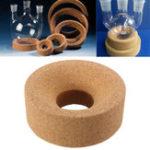 Оригинал 80 * 30 * 30 мм Корк Мат Лабораторное кольцо круглое дно для стеклянной колбы 50 мл – 250 мл Экспериментальный аппарат