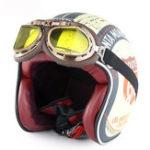 Оригинал Соман мотоцикл Скутер Half Face Ретро Винтаж Шлем + защитный костюм