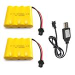 Оригинал 2 Шт. 4.8 В 700 мАч Ni-Cd RC Авто Батарея Пакет SM 2 P Разъем С USB Зарядный Кабель Для Игрушек