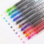 Оригинал 10 Цветов 0.5 мм Гель Ручка Цветные Ручкаs Творческий Капиллярный Синий Ручкаs Симпатичные Письменные Канцтовары