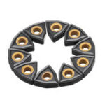Оригинал Drillpro 10pcsWNMG080408 MS CVD External Turning Tool Carbide Insert Cutting Tool for DWLNR/L