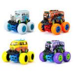 Оригинал Classic Pull Back Инерционная вращающаяся сила трения Авто Big Wheel Diecast Toys