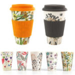 Оригинал 300-450ML Portable Travel Reusable Bamboo Fiber Coffee Cup Eco-Friendly Water Drinking Mug