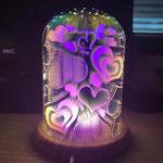 Оригинал 3DNightLightВолшебныйСтолСтол Лампа со стеклянной крышкой LED USB Атмосфера Свет