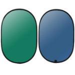 Оригинал 3x5FT 2 в 1 Синий Зеленый Фон Фон Панель Всплывающий Фон Двусторонний Складной Экран