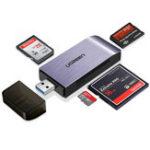 Оригинал UGreen CM180 4-в-1 USB 3.0 для SD TF CF MS Устройство чтения карт памяти Поддержка одновременного чтения